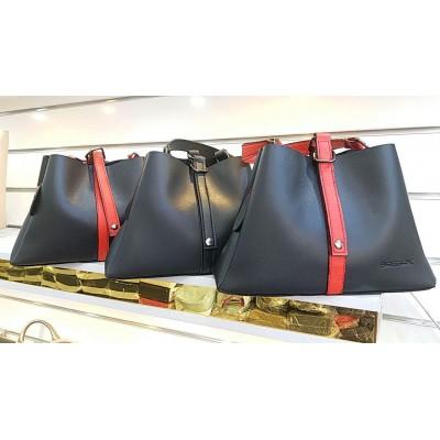 کیف دوشی تک دسته مشکی قرمز